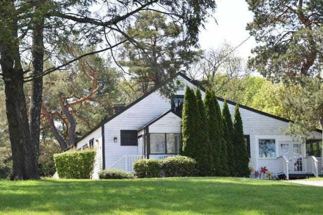Another of the West Hartford Art League's three buildings they have acquired use of over time. Photo credit: Deb Cohen