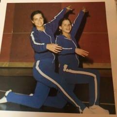 Shari Cantor (right) as a Hall High School gymnast. Courtesy photo