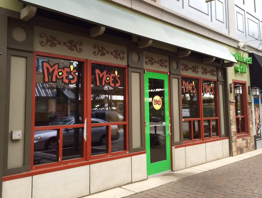 Moe's Southwest Grill at 54 Memorial Rd. in West Hartford officially closed on May 5, 2016. Photo credit: Ronni Newton