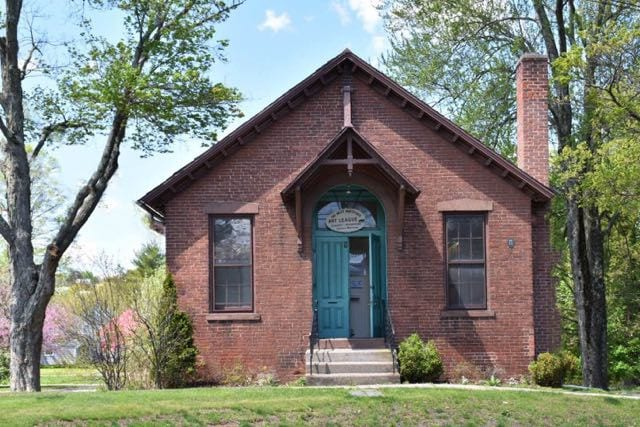 One of the first schoolhouses made of brick c. 1878. The only one remaining of seven original one-room schoolhouses in West Hartford. Photo credit: Deb Cohen