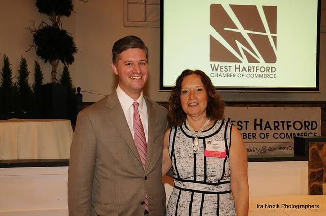 Former Mayor Scott Slifka will receive the Noah Webster Award, and other businesses and individuals will be honored at the West Hartford Chamber of Commerce's Annual Meeting and Dinner. Photo credit: Ira Nozick Photography (from 2015 event)