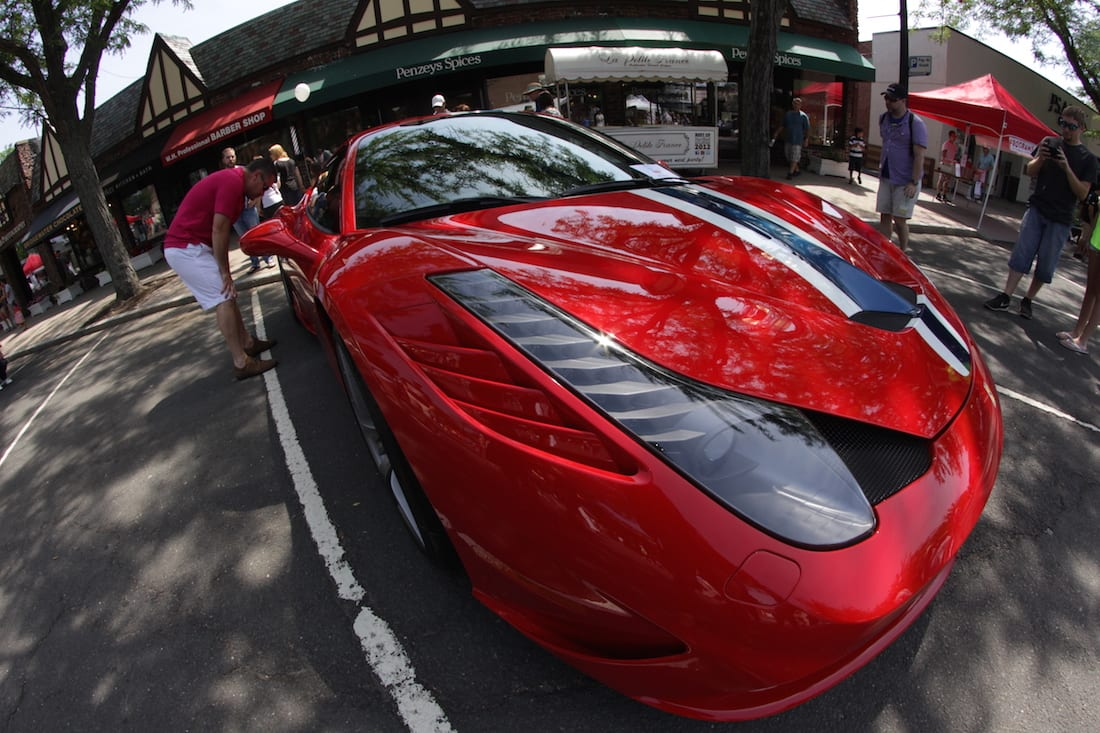 Concorso Ferrari and Friends cars were on display in West Hartford Center in support Connecticut Children's Medical Center on June 26, 2016. Photo credit: Dylan Carneiro