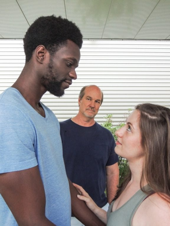 Jovan Davis (Othello), Geoffrey Sheehan (Iago) and Juliana Bearse (Desdemona). Submitted photo