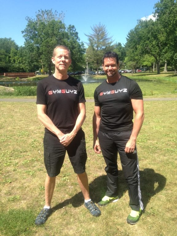 Mike Hughes has opened up a GYMGUYZ franchise serving West Hartford and the surrounding area, and has teamed up with trainer Chris Lombardi to offer customized, come-to-you programs. Photo credit: Cassidy Kotyla