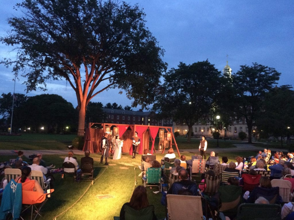 Outdoor festival seating for Shakespeare Under the Stars at the University of Saint Joseph. Submitted photo