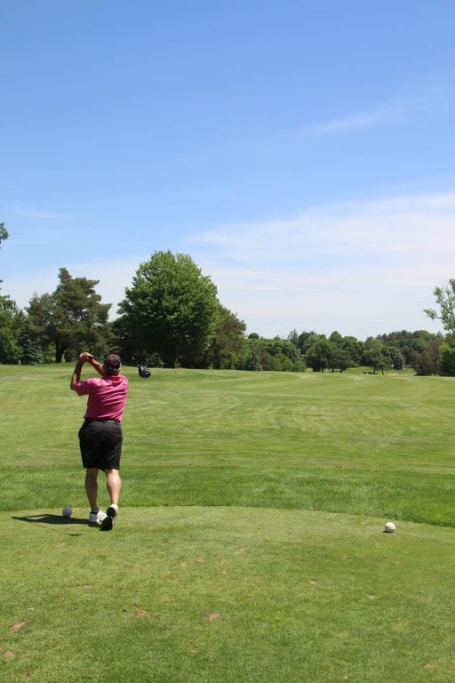 Golfers are out in full swing at West Hartford's Rocklege Golf Club. Photo by Dylan Carneiro