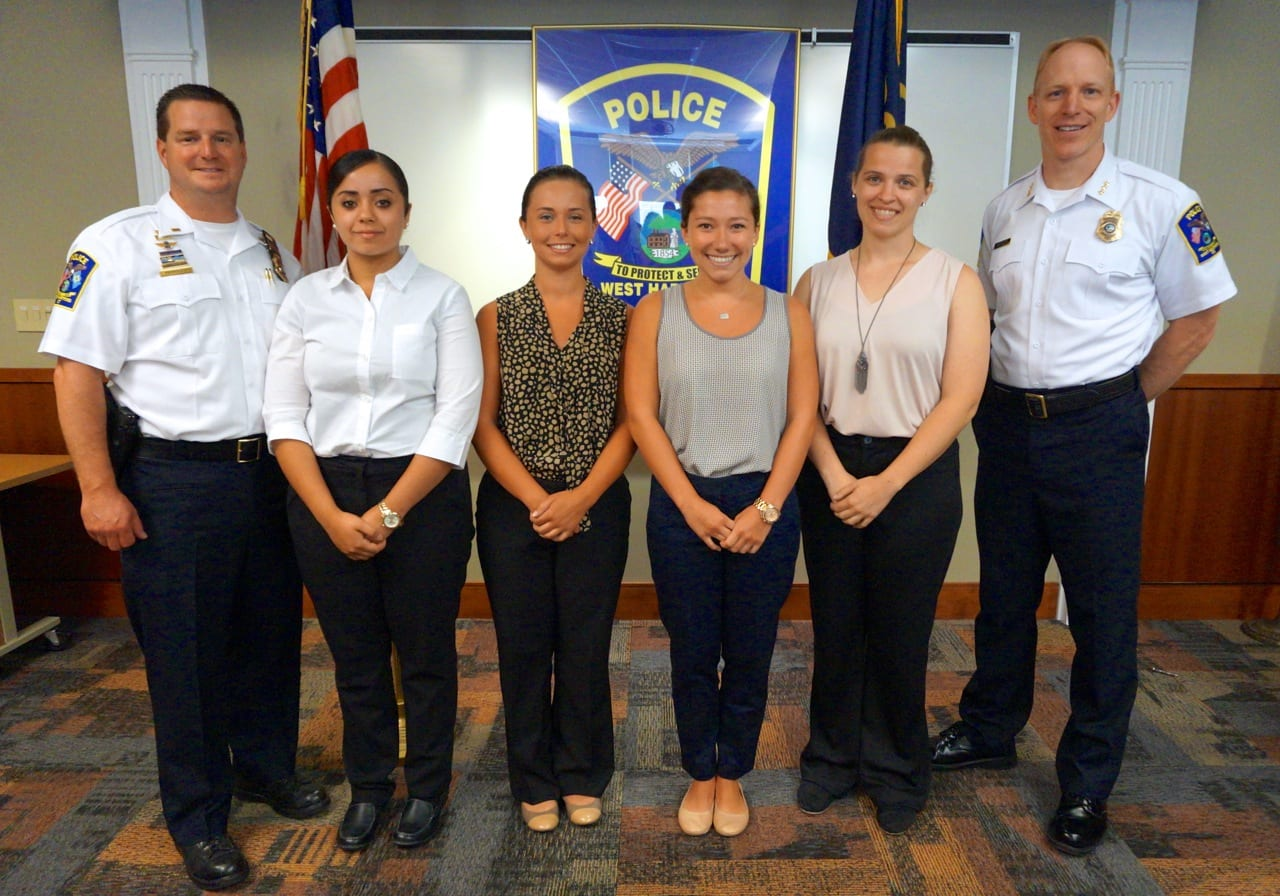 West Hartford Police Department Welcomes Class Of Four Female Recruits We Ha West Hartford News
