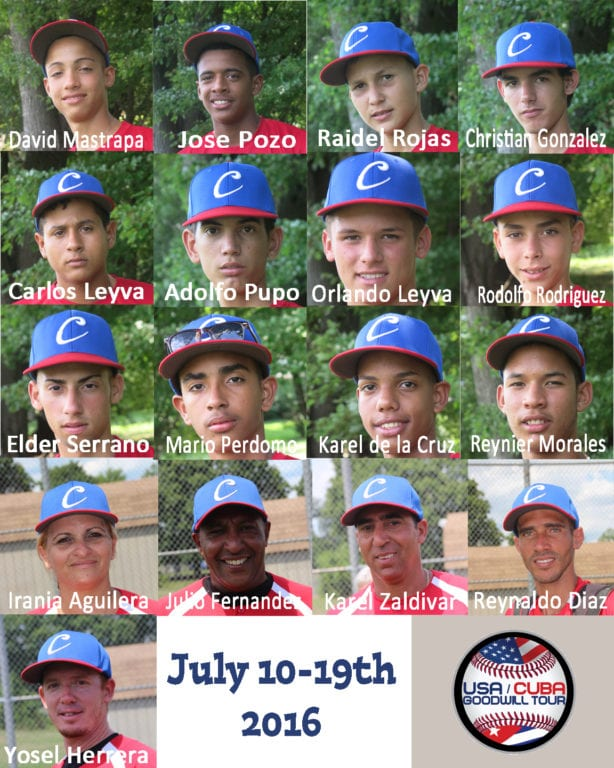 12 Cuban teens and their coaches and translators have been spending the week in West Hartford and the surrounding area. Photo credit: Gary Cohen