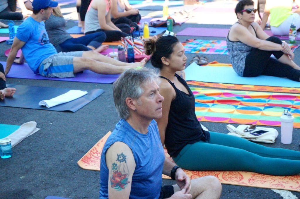 "'Om Street: Yoga on LaSalle."" West Hartford, CT. July 23, 2016. Photo credit: Ronni Newton"