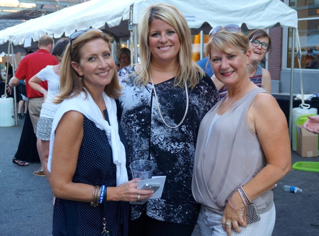Blue Back Square's management office enjoyed the event. Taste of Blue Back Square and The Center. July 27, 2016. Photo credit: Ronni Newton