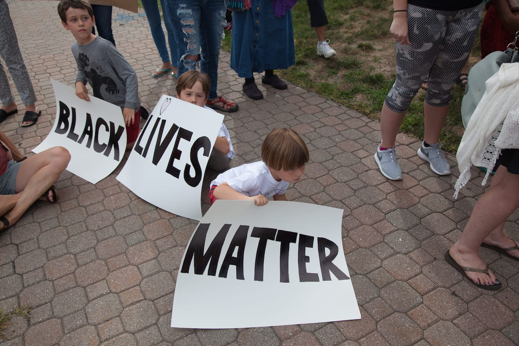 Peaceful participants at a Black Lives Matter rally in West Hartford. Photo credit: Michaela Melvin