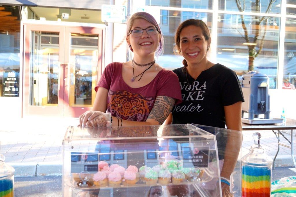 NoRA cupcakes colorful desserts were a hot commodity. Taste of Blue Back Square and The Center. July 27, 2016. Photo credit: Ronni Newton