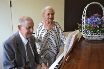 Barbara singing alongside pianist and longtime friend, David Eberly. Submitted photo