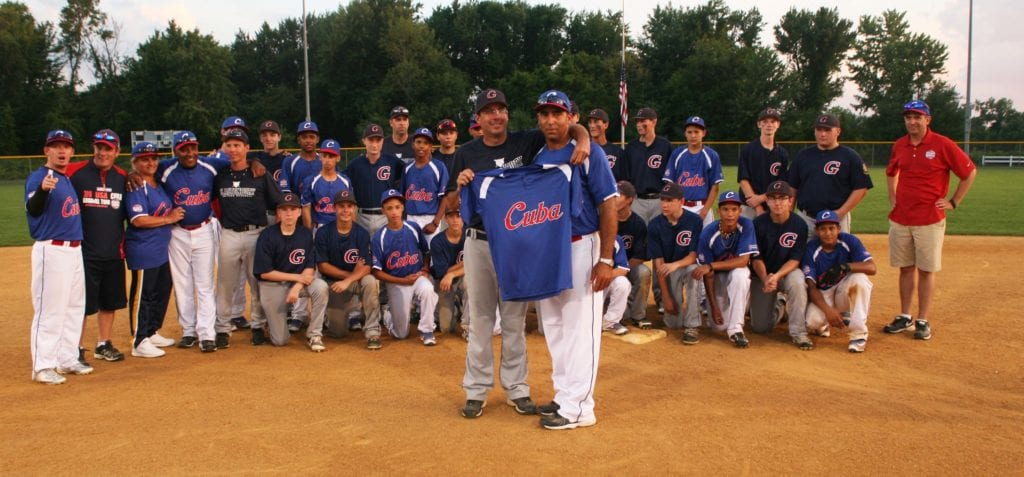 Final game for Team Cuba, a 10-8 win over Glastonbury at Riverfront Stadium. Photo credit: Gary Cohen