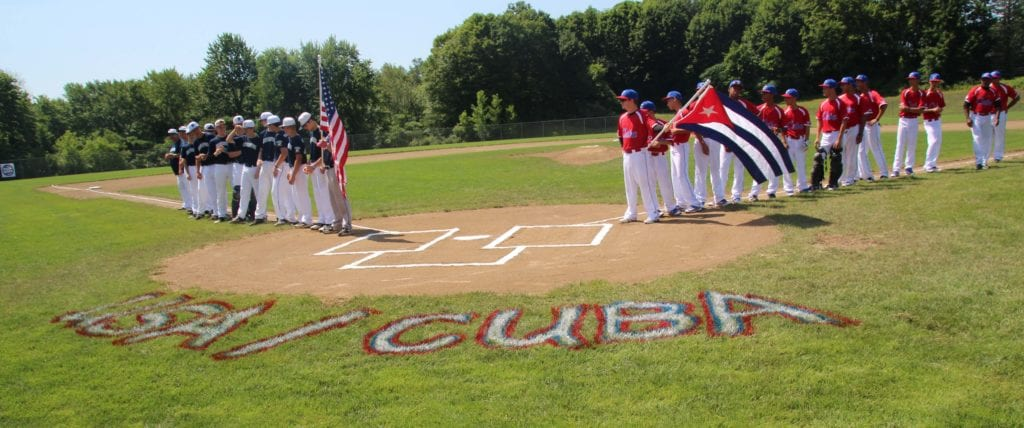 Team Cuba vs. Newington at Legends Field. Photo credit: Gary Cohen