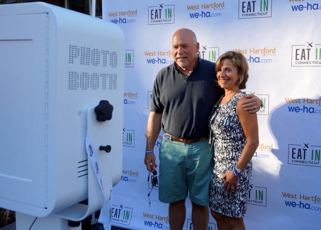 Mayor Shari Cantor and her husband Michael Cantor pose in the SnapSeat Photo Booth at Taste of Blue Back Square and The Center. July 27, 2016. Photo credit: Ronni Newton