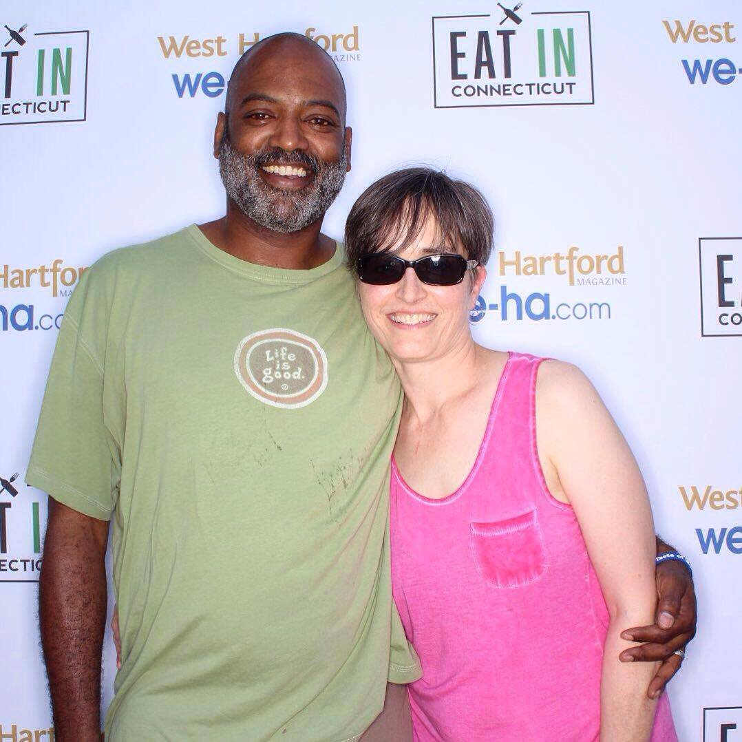 West Hartford residents Mick and Amy Melvin at Taste of Blue Back Square & The Center on July 27, 2016. photo by SnapSeat Photo Booth