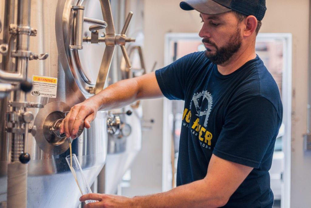 Ben Braddock at work brewing. Courtesy photo