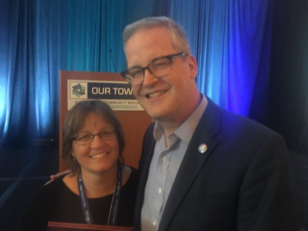 Bepsie Perry (left) with ACM Executive Director Mike Wasanaar. Submitted photo