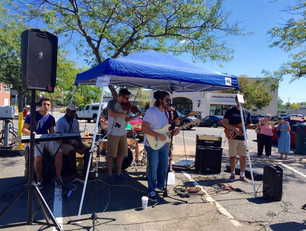 There was live music in several areas of West Hartford Center during Center Streets. Photo credit: Ronni Newton