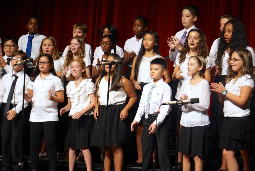 Smith STEM School choir performs at convocation. Aug. 29, 2016. Photo credit: Ronni Newton
