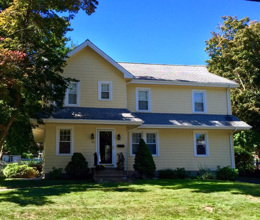 33 Riggs Rd., West Hartford, CT, recently sold for $490,000. Photo credit: Ronni Newton