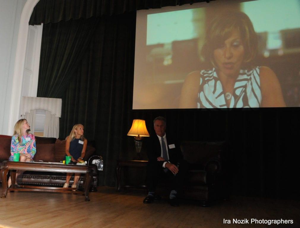 Mayor Shari Cantor, via video stream, kicks off the Best of West Hartford 2016 Awards Show. Photo credit: Ira Nozik Photographers