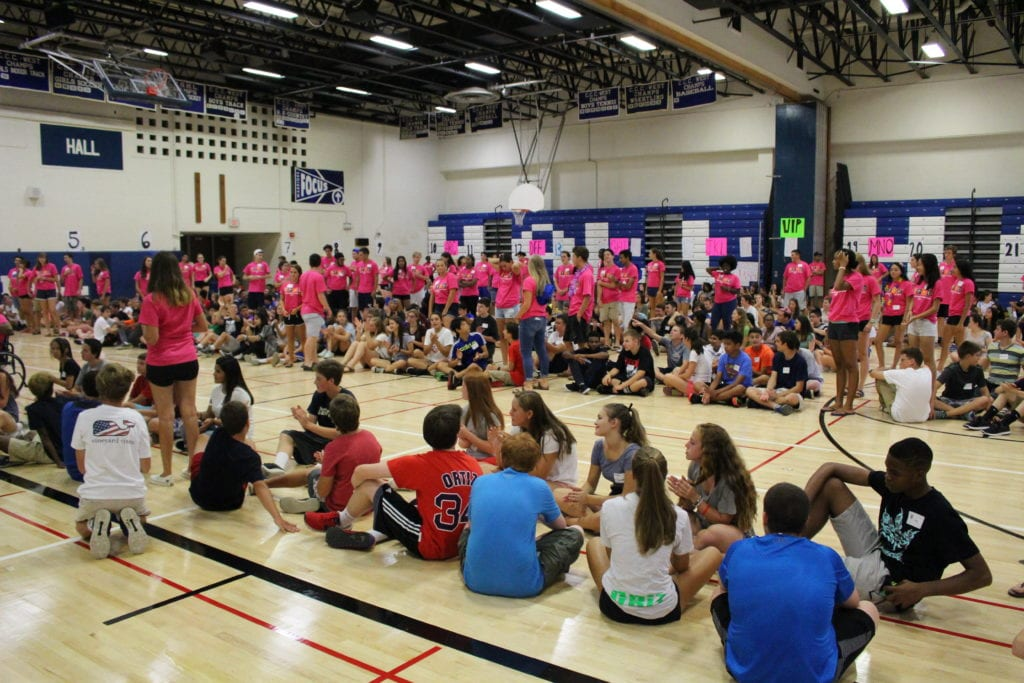 Link Crew at Hall High School, Aug. 28, 2016. Courtesy photo