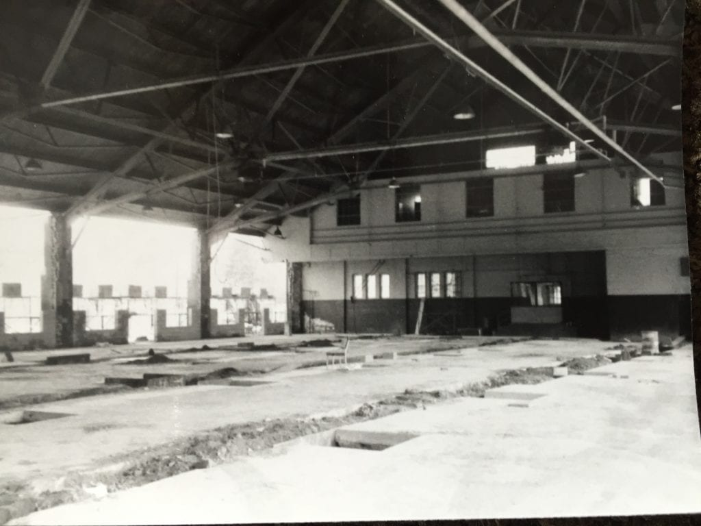 Interior of the armory, prior to renovation. Photo courtesy of Robert Udolf