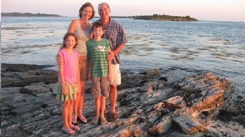 Dombrofski family photo courtesy of Holy Family Passionist Retreat Center