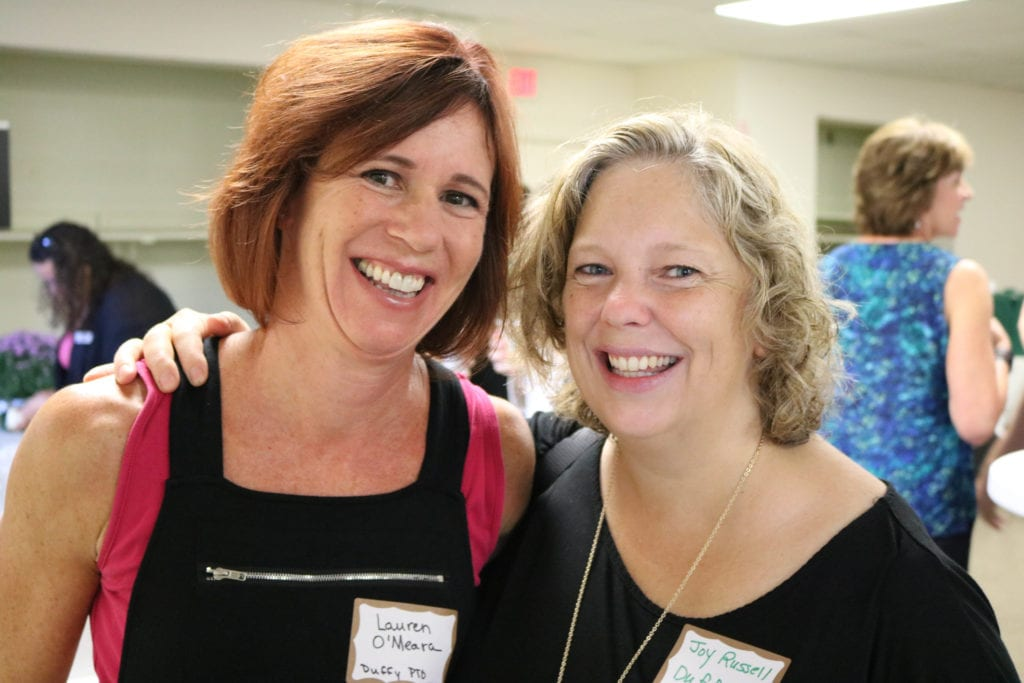 Lauren O'Meara (left) and Joy Russell of the Duffy PTO. Photo credit: Amanda Aronson
