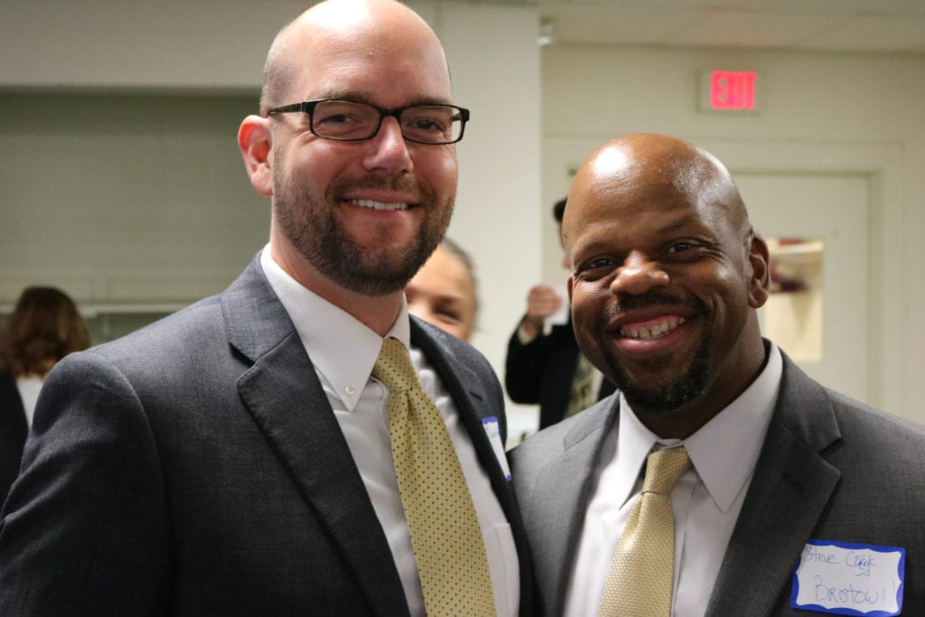Ryan Cleary, principal of Morley (left), with Steve Cook principal of Bristow. Photo credit: Amanda Aronson