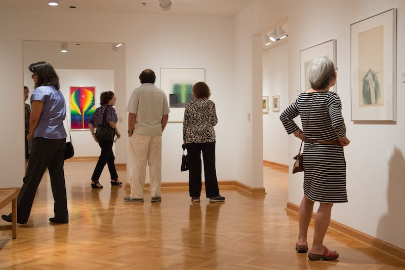 Art Museum, University of Saint Joseph during the opening reception for HANGA NOW. Photo credit: Steven Laschever