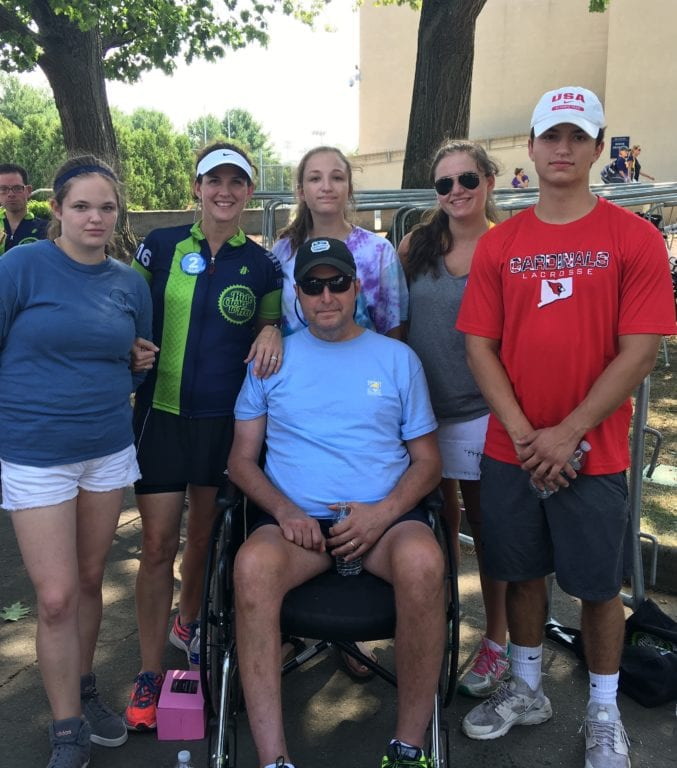 Lucio Lefante (center) with his family at the Closer to Free Ride on Sept. 10, 2016. Courtesy photo