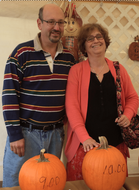 Larry Wilder (left) and Margie Nishan are the organizers of this year's pumpkin patch. Courtesy photo