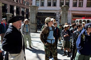 Troop 146 on the Freedom Trail. Submitted photo