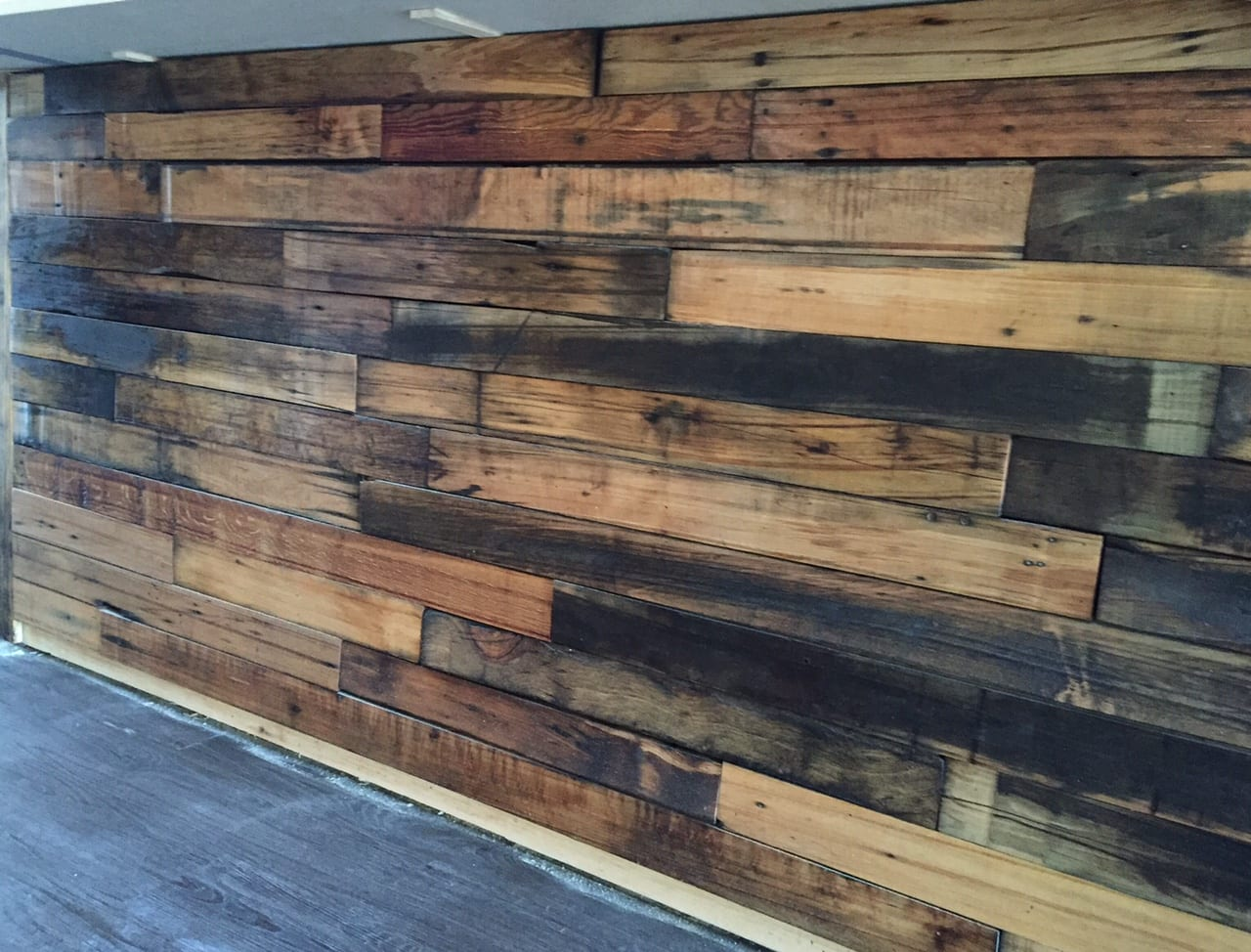 The bar at Park & Oak is made of 150-year-old oak. Photo credit: Ronni Newton