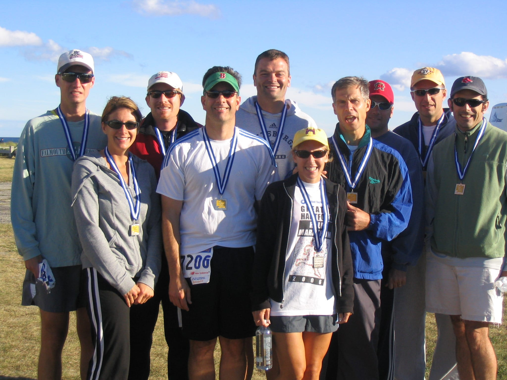 Original Reach the Beach Old School team from September 2007. Lucio is second from right. Ronni Newton photo