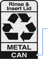 Recyclable parts of packaging