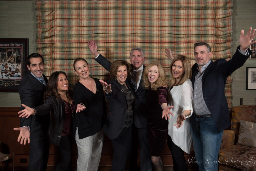 From left: Mickey Rosenberg Toro, Pia Rosenberg Toro, Event Co-Chairs, Barbara Roth, Tara's Closet Founder Judy Rosenthal, David Rosenthal, Event Co-Chairs, Anne Danaher, Executive Director, Merrill Mandell, JFS Chairman of the Board, Mark Mandell. Submitted photo