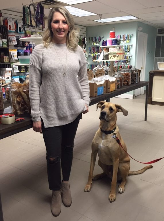 Dogology co-owner Marissa Gerson and Hackson. Photo credit: Ronni Newton