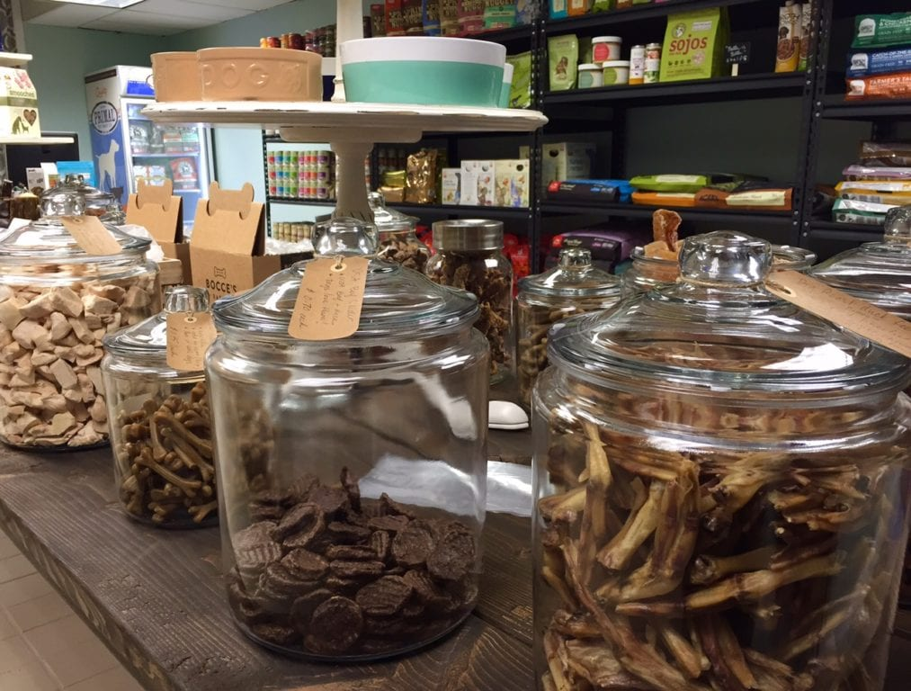 Bulk treats and other items are available at Dogology. Photo credit: Ronni Newton