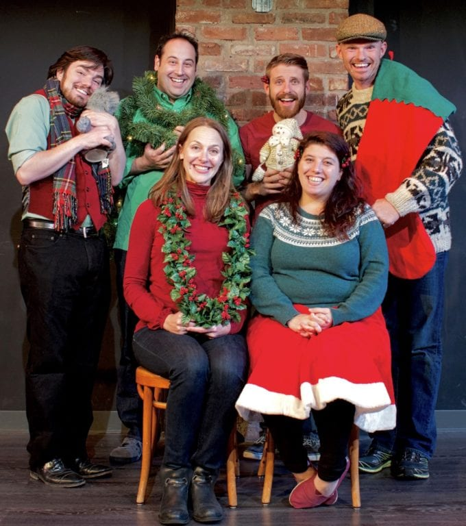 cast of an improvised christmas carol submitted photo