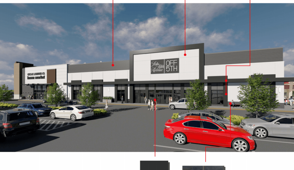 Saks Fifth Avenue Off Fifth will occupy a portion of the property now occupied by Sears. Rendering submitted to West Hartford DRAC