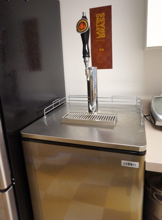 Nitrogen-infused cold brew coffee from N2 is complimentary with a WeHa Works membership. Photo credit: Ronni Newton