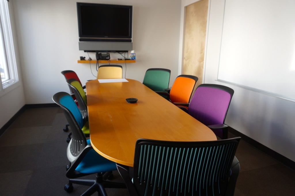 Conference room at WeHa Works. Photo credit: Ronni Newton