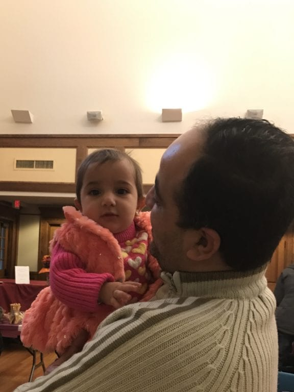 Thanksgiving dinner for refugees at St. John's Episcopal Church, West Hartford. Photo courtesy of Rector Susan Pinkerton