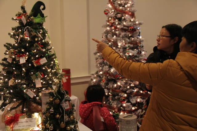 West Hartford Festival of Trees at First Church West Hartford on December 1, 2016. Photo credit: Amy Melvin
