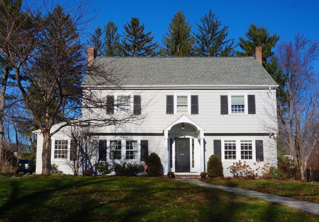 32 Brookside Boulevard, West Hartford, CT, recently sold for $600,000. Photo credit: Ronni Newton
