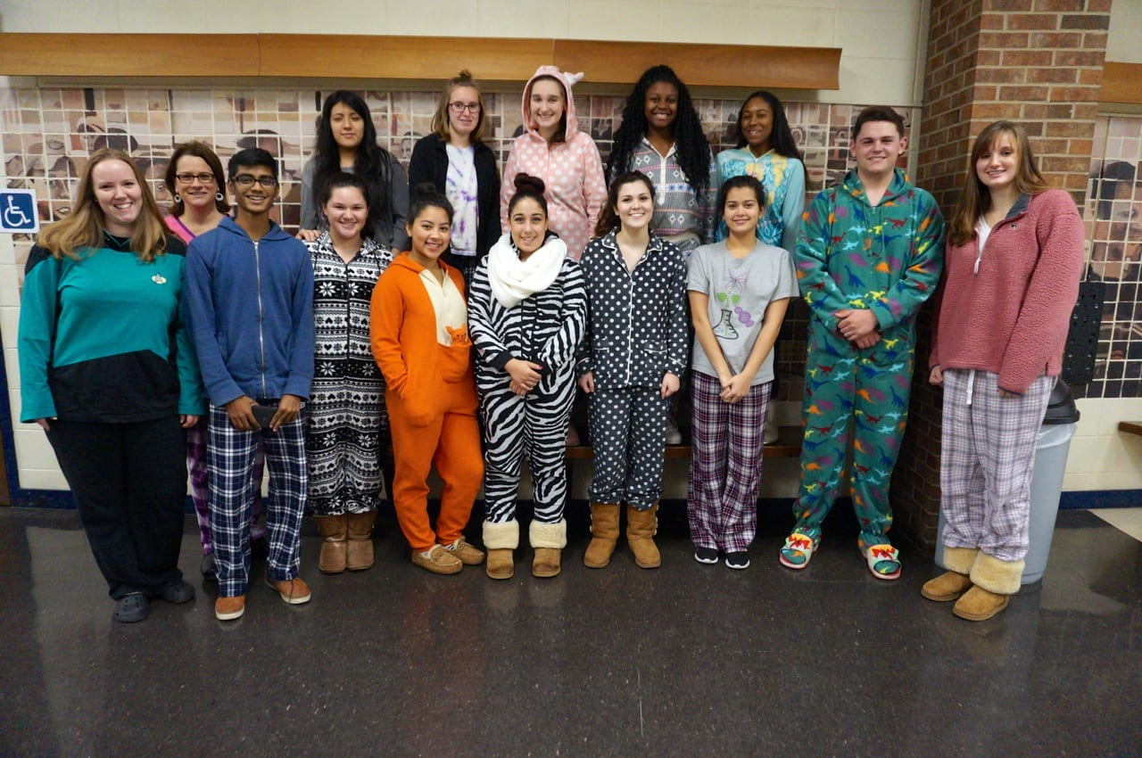west hartford students teachers wear pjs for a cause we ha west